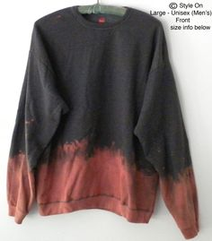 Sweatshirt - Gray Crewneck Sweatshirt  - Gray sweatshirt, Dip Dye sweatshirt, sweatshirts, Boho, dip dye, Acid wash by Styleon on Etsy