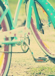 polka dot bike