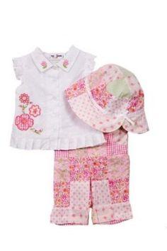 NWT BT Kids Baby Girls 3 pc pink pants set
