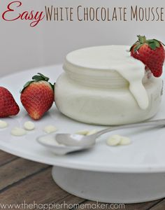 Easy 2 Ingredient White Chocolate Mousse Recipe