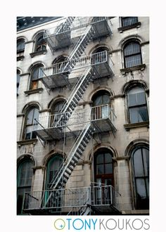 Soho, New York, building, facade, architecture, fire escapes, windows, exterior, brick, travel, art, photography, places