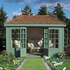 Garden studio, backyard studio, backyard retreat, backyard sheds, garden sh Backyard Studio, Backyard Sheds, Backyard Retreat, Garden Sheds, Garden Rack, Gazebo, Summer House Garden, Summer Houses Uk, Pavillion