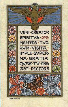 Catholic Art, Catholic Saints, Roman Catholic, Religious Art, Vintage Holy Cards, Christ The King, Spiritus, Bible Prayers, Holy Ghost