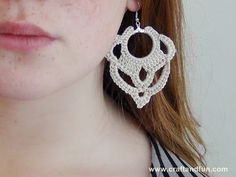 www.fhinotrico.blogspot.com: Passo a passo de um lindo brinco em crochê