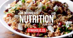 You are a beginner and you want to know how to eat according to your fitness goals. Whether you want lose weight or build muscle, you are in the right place.