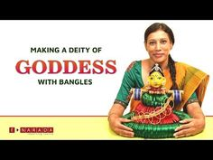 In this video, reputed Skills Trainer, Mamatha, shows you an amazingly simple way to make the Deity of Devi (Goddess) using glass Bangles. Lakshmi Sarees, Durga Goddess, Malu, Craft Work, Deities, Bangles, Youtube, How To Make, Handmade