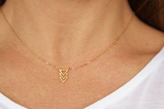 Hey, I found this really awesome Etsy listing at https://www.etsy.com/listing/206336892/triple-chevron-necklace-dainty-gold-fill