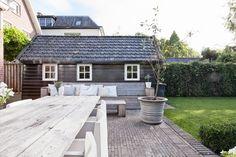 #tuin #terras #bank #tafel #hout #outdoor