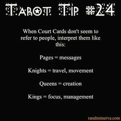 Tarot Tip 24: How to Interpret Court Cards #howtoreadtarotcards