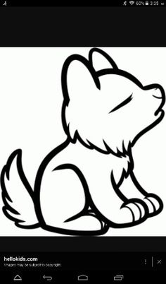 how to draw a cute baby wolf step by step