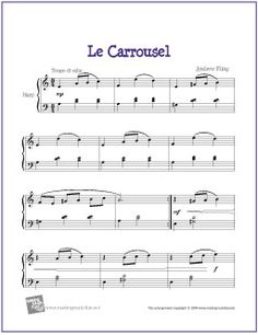 Le Carrousel | Free Sheet Music for Harp - http://www.makingmusicfun.net/htm/f_printit_free_printable_sheet_music/le-carrousel-harp.htm