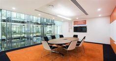 Salle de réunion dans les bureaux de CBI à Londres, Royaume-Uni