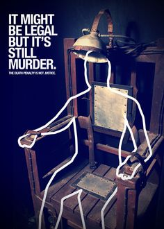 """""""Death is not Justice""""     ⓒPoster for Tomorrow"""