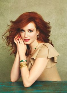I am pretty much in love with Christina Hendricks.  That is not at all narcissistic of me.