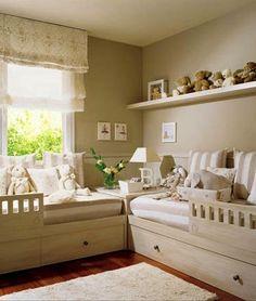 kids room stuffed animal display with wall mounted shelf and corner table ideas
