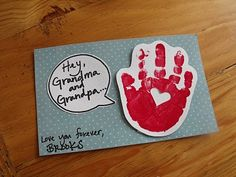 """under handprint is a photo & words """"blowing lots of kisses your way!"""""""
