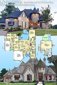 Architectural Designs House Plan 48328FM gives you 3 beds and over 2,800 sq. ft. of heated living space. Ready when you are. Where do YOU want to build? #48328FM 100% #adhouseplans #architecturaldesigns #houseplan #architecture #newhome #newconstruction #newhouse #homedesign #dreamhome #dreamhouse #homeplan #architecture #architect