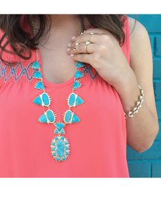 Havana Statement Necklace in Turquoise Magnesite - Kendra Scott Jewelry.