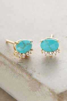 cute turquoise stud earrings