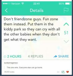 Iiiidk. The friend zone does suck..
