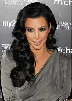 Custom Celebrity Hairstyle Long Wavy Hand Tied Full Lace100% Human Black Hair Wig