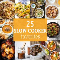 25 SLOW COOKER FAVORITES for every occasion. The best slow cooker recipes for appetizers, main courses, and more! Nothing beats an amazing crockpot recipe!