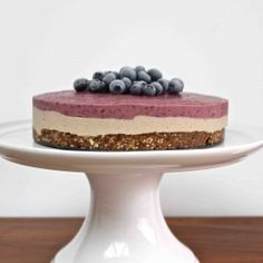 The healthiest, most outrageously delicious raw blueberry cheesecake! The perfect summer dessert. Gluten/dairy free, no refined sugar, vegan
