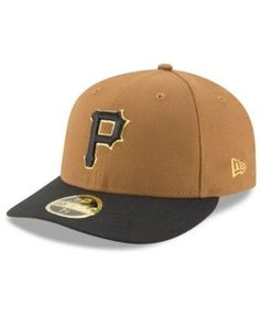 New Era Pittsburgh Pirates Low Profile Ac Performance 59FIFTY Fitted Cap - Tan/Beige 7 5/8