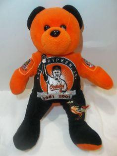 CAL RIPKEN JR. BALTIMORE ORIOLES MLB LIMITED EDITION BEAN BEAR #Unbranded