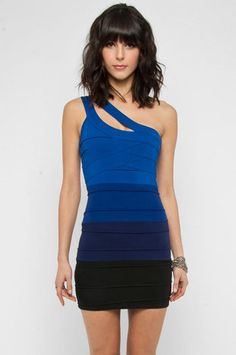Color Fade Fitted Dress in Navy $42 at www.tobi.com