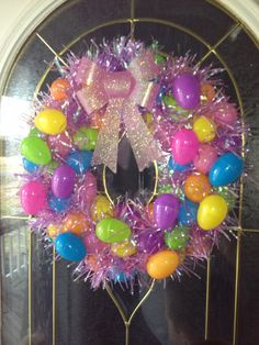 Easter Egg Wreath by sassyscrafts on Etsy, $20.00