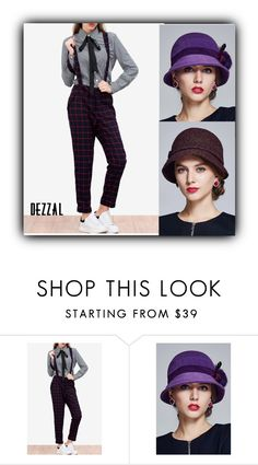 """""""Fashion"""" by fatimka-becirovic ❤ liked on Polyvore featuring POL, hat, rompers and dezzal"""