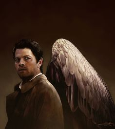 Most popular tags for this image include: castiel, misha collins, supernatural, digital art and drawing
