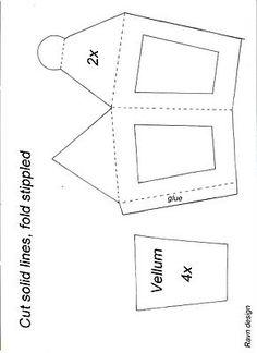 free lantern (with vellum inserts) template