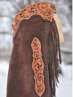 Tooled leather yokes