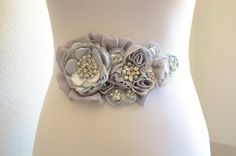 Greys and Light greys all combined into this masterpiece, very similar to my sash featured in Style Me Pretty. This one is Ready for a Bride :)