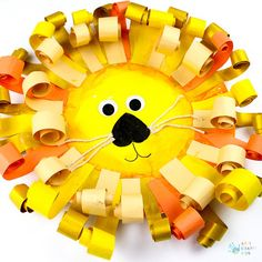 Curly Paper Plate Lion Craft