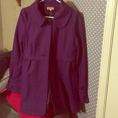 Purple pea coat It is in pristine condition worn maybe 4 times due to buying the wrong size. It is a strong and warm jacket that will last you a long time. Jackets & Coats Pea Coats