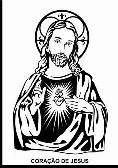 coração de jesus vetorizado.    by renzo