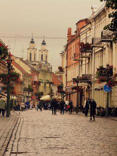 Kaunas, Lithuania.  Ambientazo de la ciutat universitaria