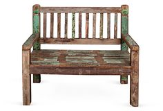 Would love this bench for lazy summer days for my son to sit on under the Chinese Pistache Tree.  #oklsummer