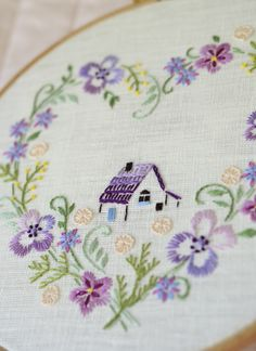 Home decor, Hand embroidery hoop art, pdf pattern