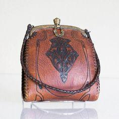 Antique Hand Tooled Purse