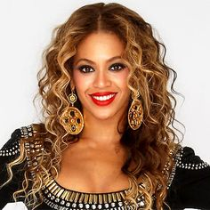 The Year's Best Red Lips - Beyonce: Blond Hair/Dark Skin from #InStyle