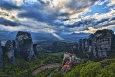 "Photo ""Magnificent #Meteora"" (#Greece) by rikfreeman Won: 4 x Superb Composition 4 x Absolute Masterpiece 2 x Top Choice 1 x Outstanding Creativity Awards + 12 likes Viewbug Nov 2014 #travel #summer #nature"