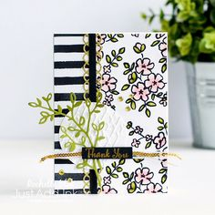 Just Add Ink #395 | Just Add Inspiration | Stampin' Up! Petal Passion DSP | The Stamping Blok | Rochelle Blok