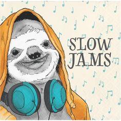 Creative Converting Dapper Animals Sloth Beverage Napkin Set of 24 Smiling Sloth, Baby Sloth, Cute Sloth, Sloth Bear, Alpacas, Napkins Set, Party Napkins, Beverage Napkins, Adult Fun