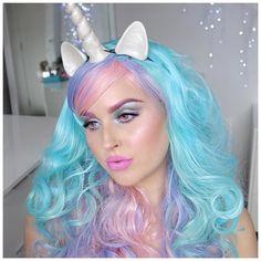 Unicorn makeup!  https://youtu.be/AdW27nD75QY  I hope you love it!  #shaaanxo #unicorn #prettyhalloween #love