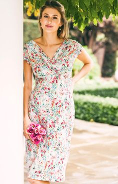 Bardot Maternity Shift Dress Petites Fleurs - Maternity Wedding Dresses, Evening Wear and Party Clothes by Tiffany Rose.