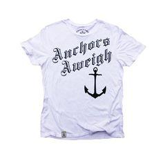 Anchors Aweigh: Organic Fine Jersey Short Sleeve T-Shirt
